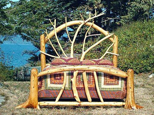 Rootsy rustic bed